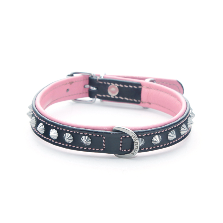 Poppy Hundhalsband - Silver Pink