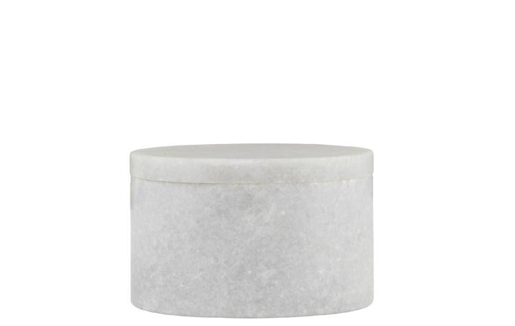 Marble Ask, Ljusgrå/Vit