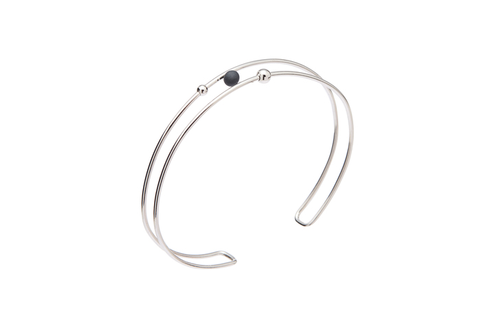 Armband Sphere-02-04, Silver/BlackMat