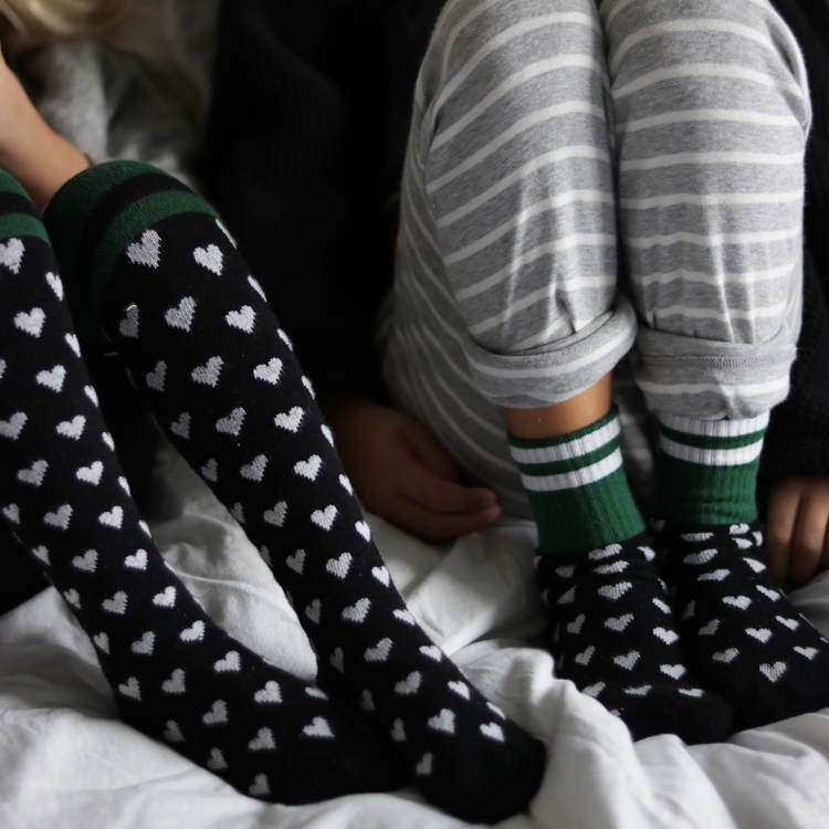 Hearty Green tights - Kiddo Lillster