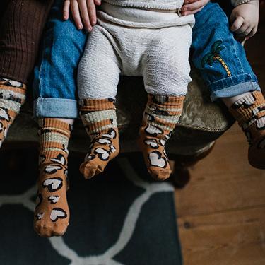 Glittery hearty leo tube sock - baby Lillster