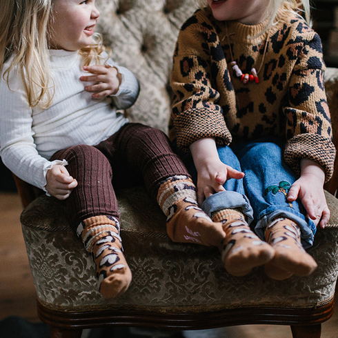 Glittery hearty leo tube sock - kiddo Lillster