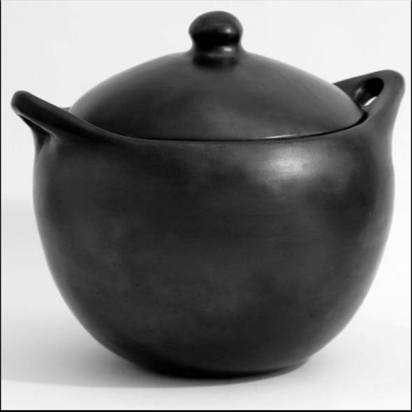 ALMA - lergryta med lock, hög rund - ca 35 liter