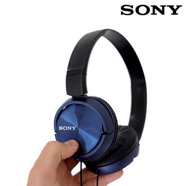 Vadderade-hörlurar-Sony-MDRZX310-Blå
