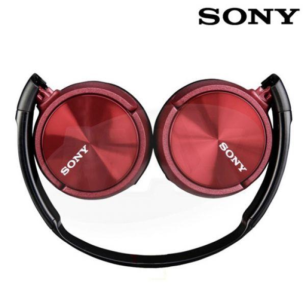 Vadderade-hörlurar-Sony-MDRZX310-röd
