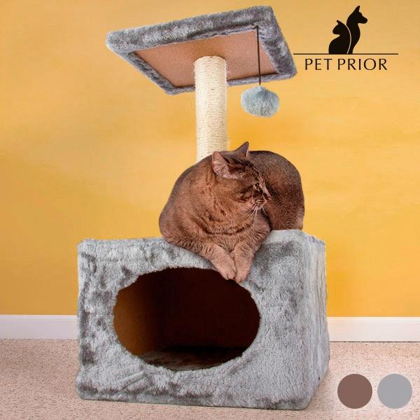 klöspelare-med-hus-för-katter