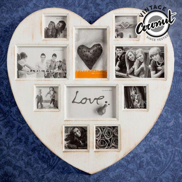 Vintage-Fotoramen Antique Heart (10 foton)