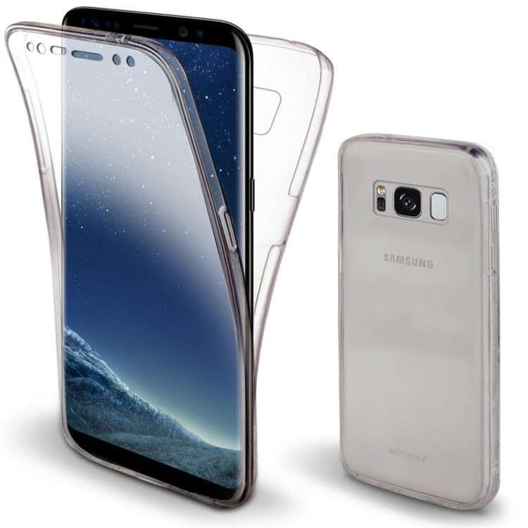 Samsung S8 Plus - Fullkropp Transparent TPU Silikon Gel