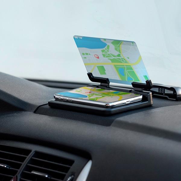 Mobilhållare för bil med spegel