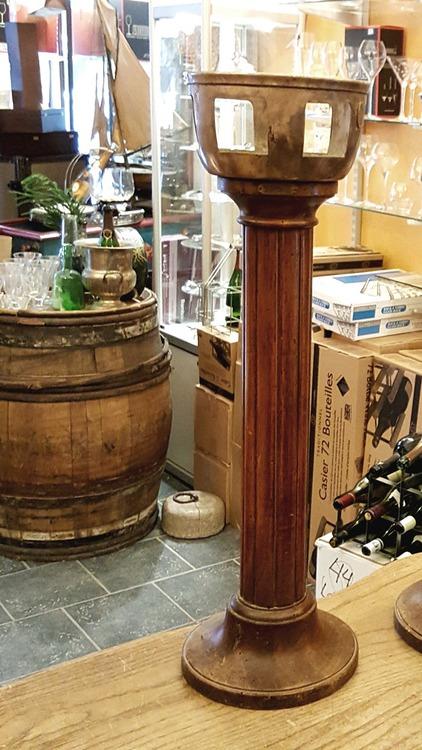 Golvstativ Art Deco i trä för champagnekylare