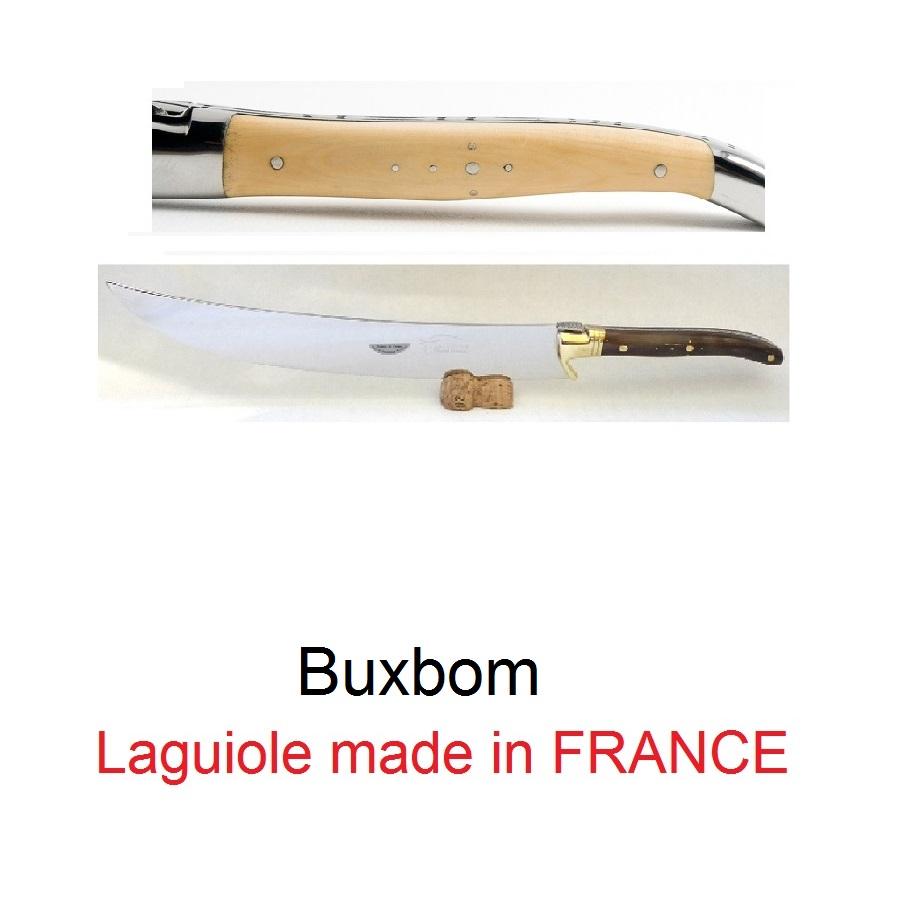 Champagnesabel från Laguiole Buxbom