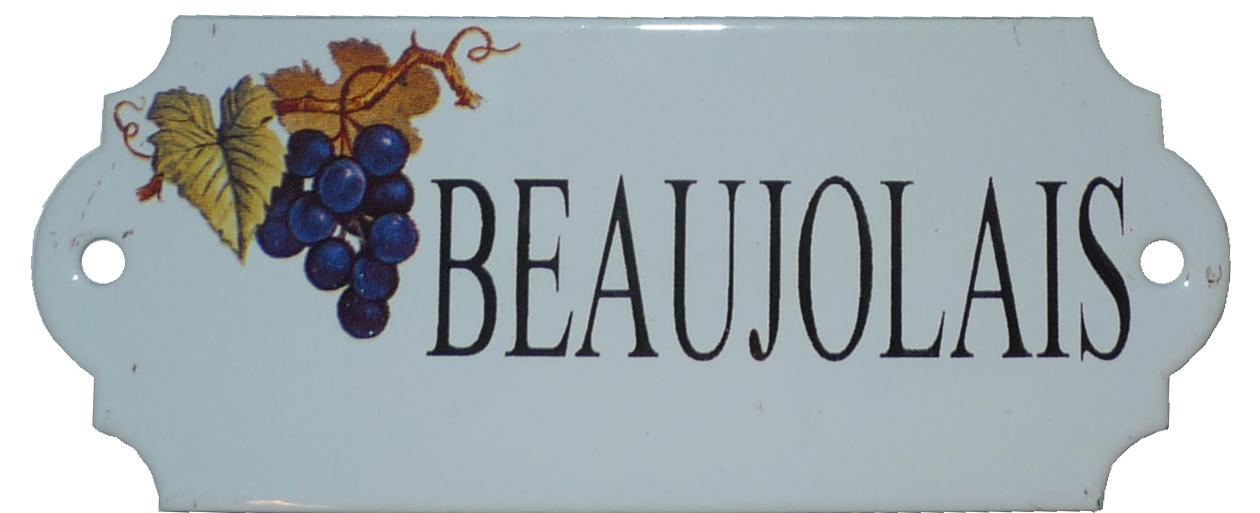 Emaljskylt Beaujolais