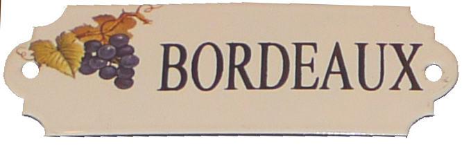 Emaljskylt Bordeaux