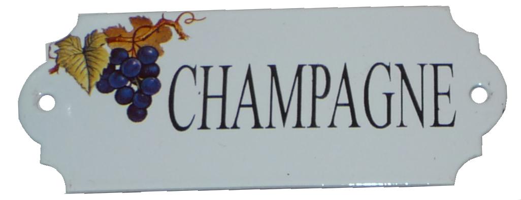 Emaljskylt Champagne
