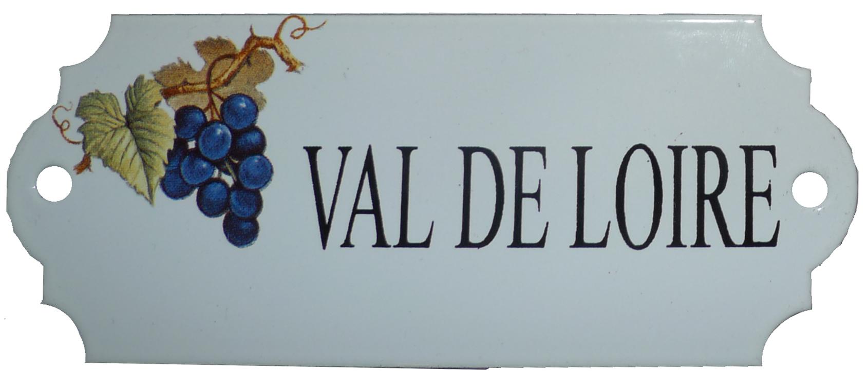 Emaljskylt med texten Val De Loire