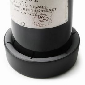 Flaskunderlägg svart plast Vacu Vin