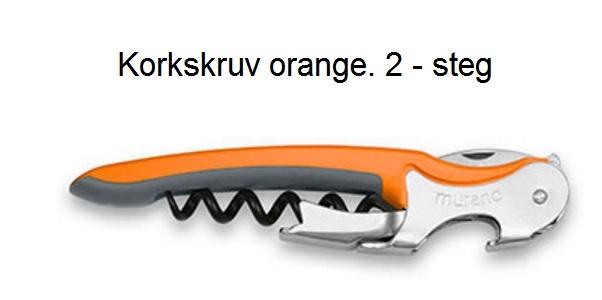 Korkskruv Murano orange 2 steg
