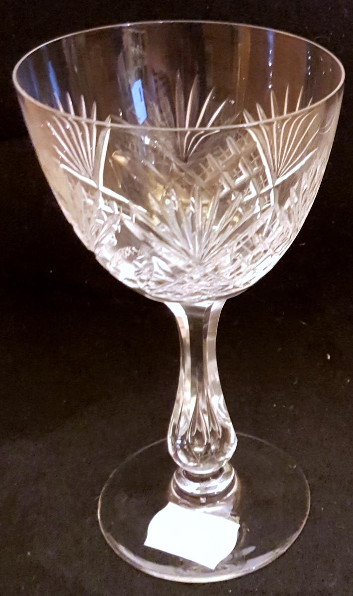 Kristallglas vitvin helgaslipat