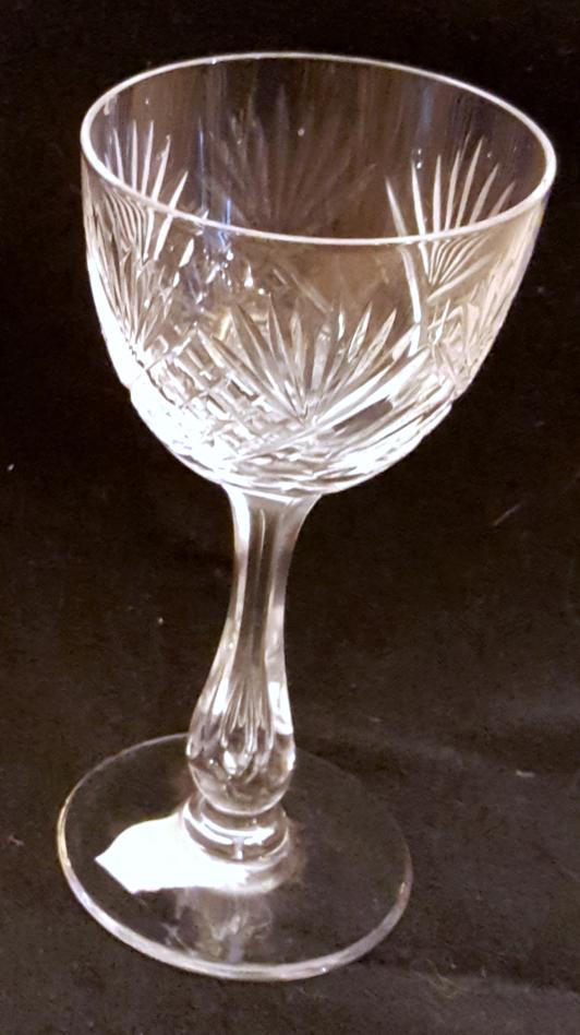 Kristallglas starkvinsglas helgaslipat