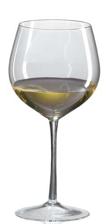Vinglas vit Bourgogne munblåst