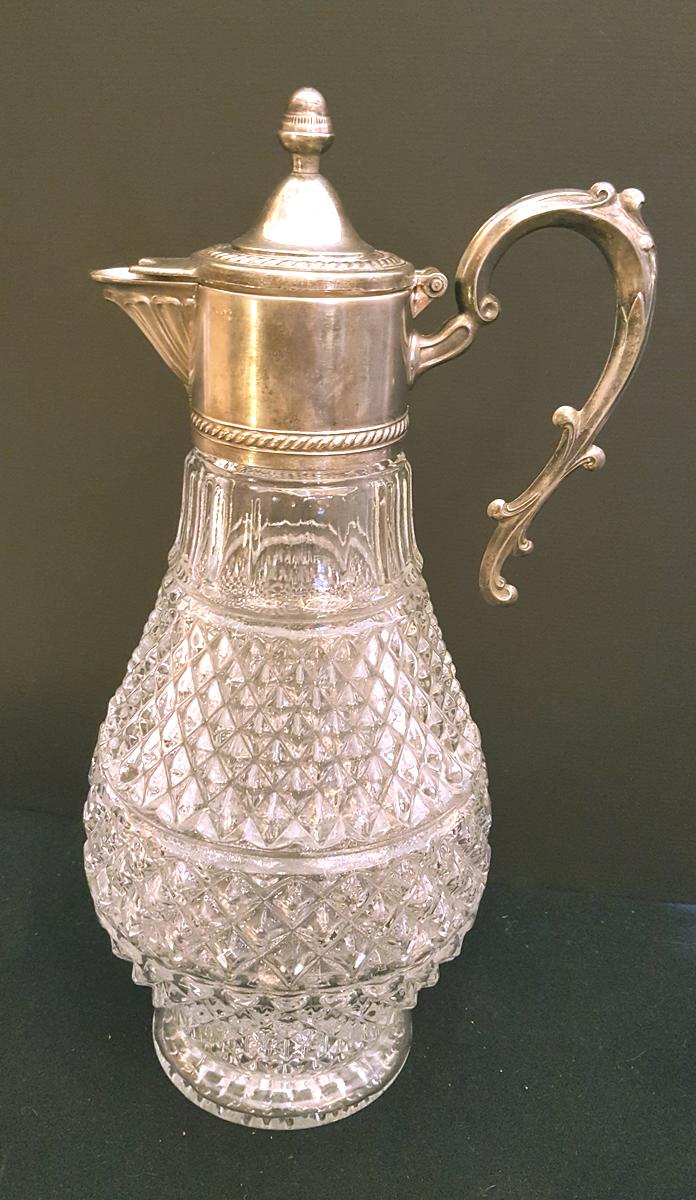 Vinkaraff silverpläterad från Italien