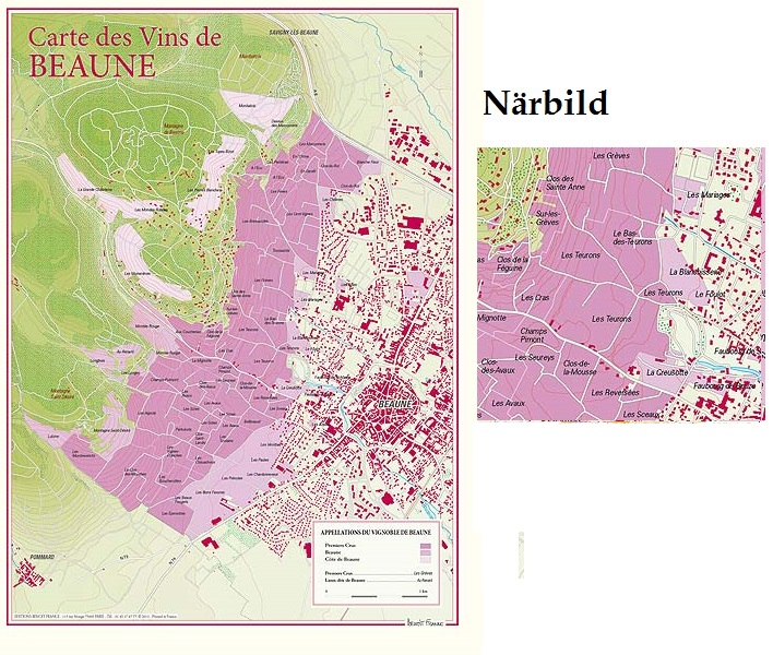 Vinkarta Beaune Bourgogne