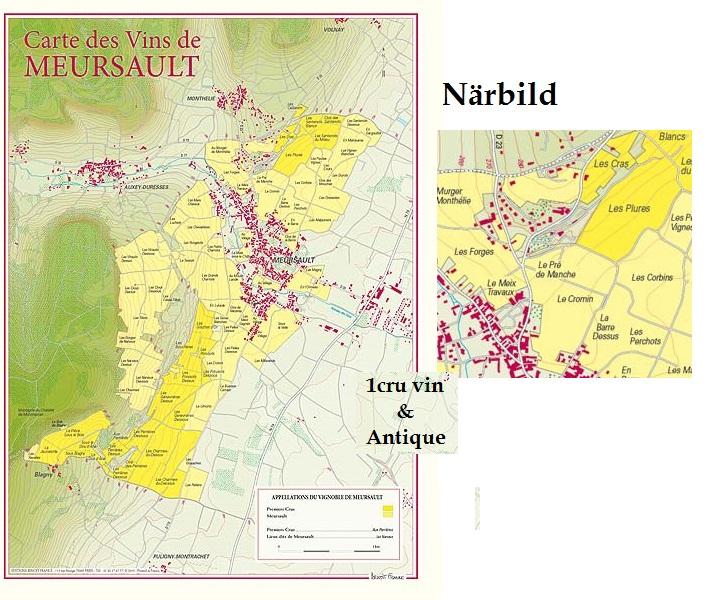 Vinkarta över Meursault