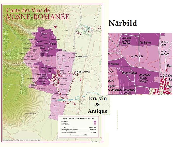 Vinkarta Vosne Romanee Bourgogne