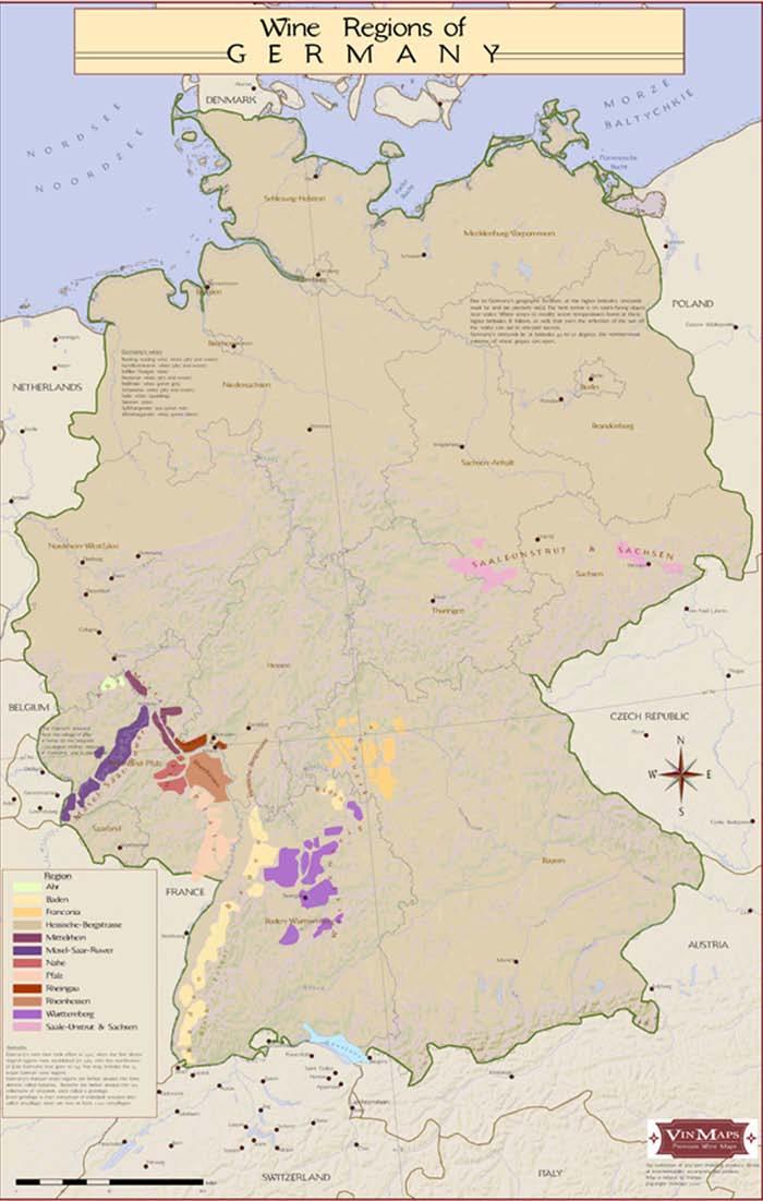 Vinkarta Tyskland