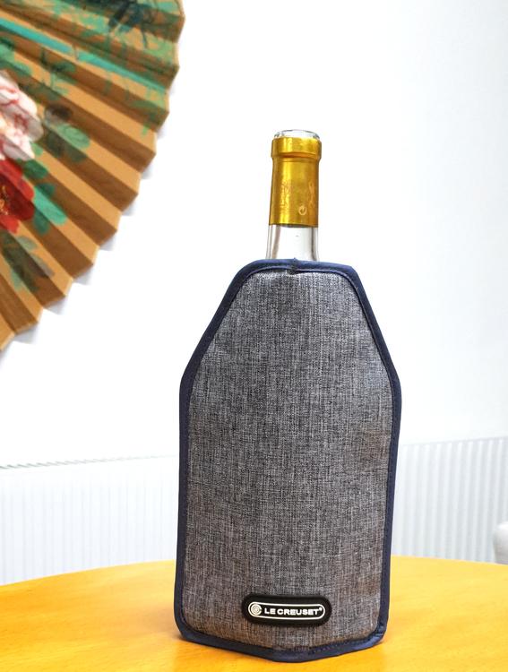 Vinpåse som kyler - Kylpåse för vinflaskor - Grå färg