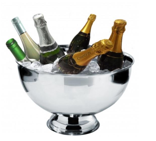 Champagnekylare för 6 flaskor