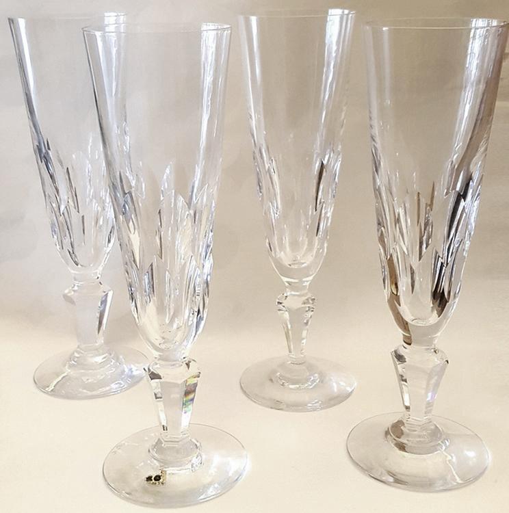 Champagneglas kristall antika - Boda