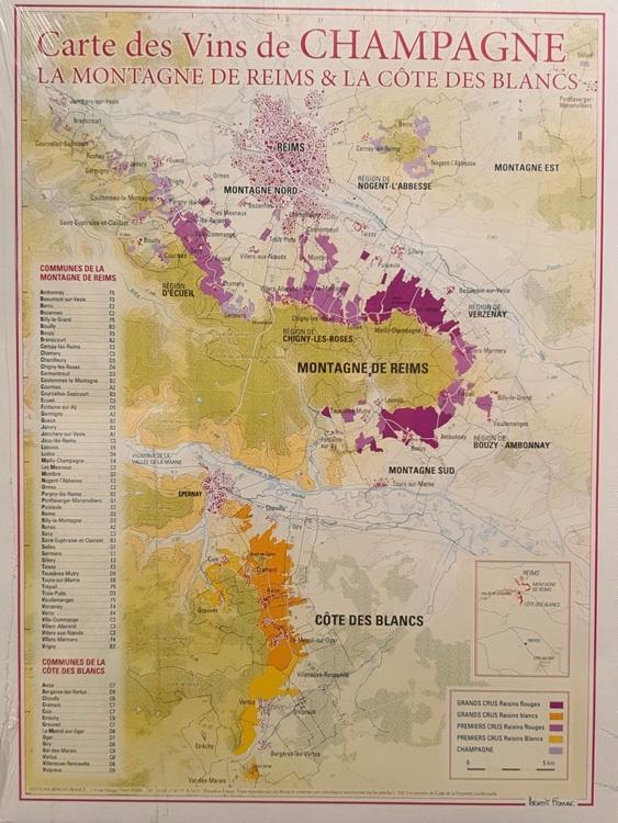 Vinkarta Champagne La Montagne de Reims & La Cote des Blancs