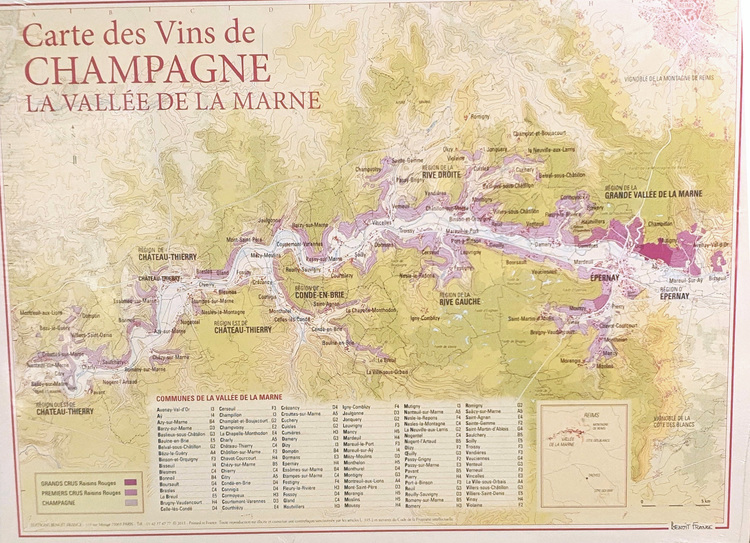 Vinkarta Champagne La Vallée de la Marne