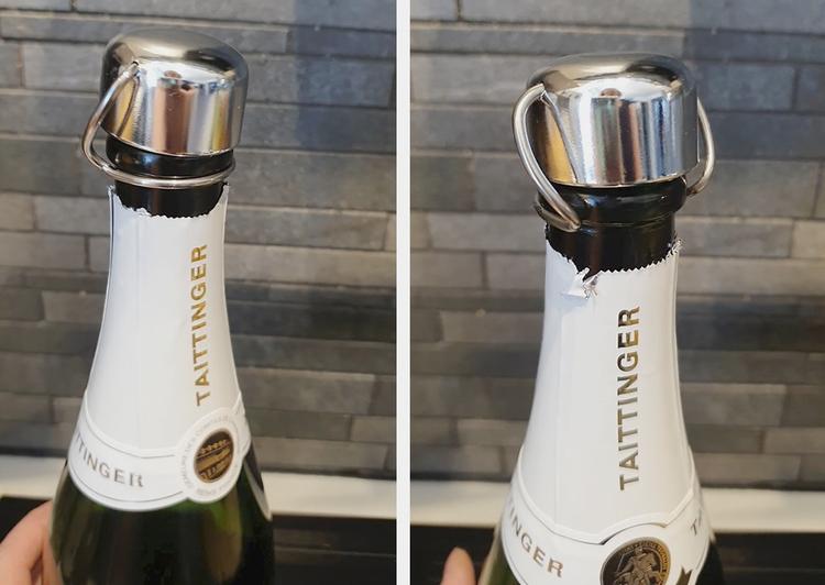 Champagnekork metall 2 pack