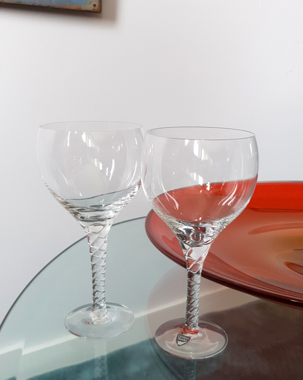 Vinglas rödvin Anne Orrefors