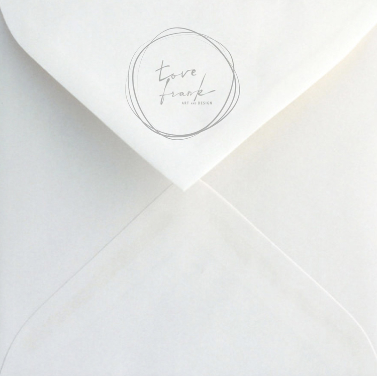 """Butterfly Girl"" Folded card 15x15cm"