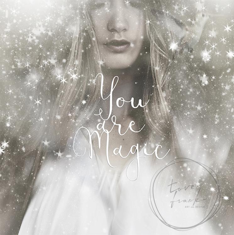 """""""You are Magic"""" Folded card 15x15cm"""