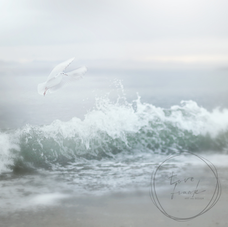 """Spirit Bird"" Dubbelt kort 15x15cm"
