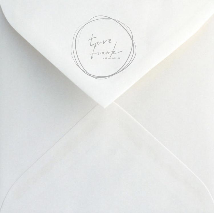 Shells & Feathers, folded card 15x15 cm