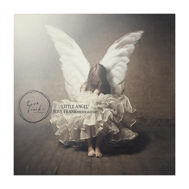 LITTLE ANGEL - Art print 22,5x22,5 cm