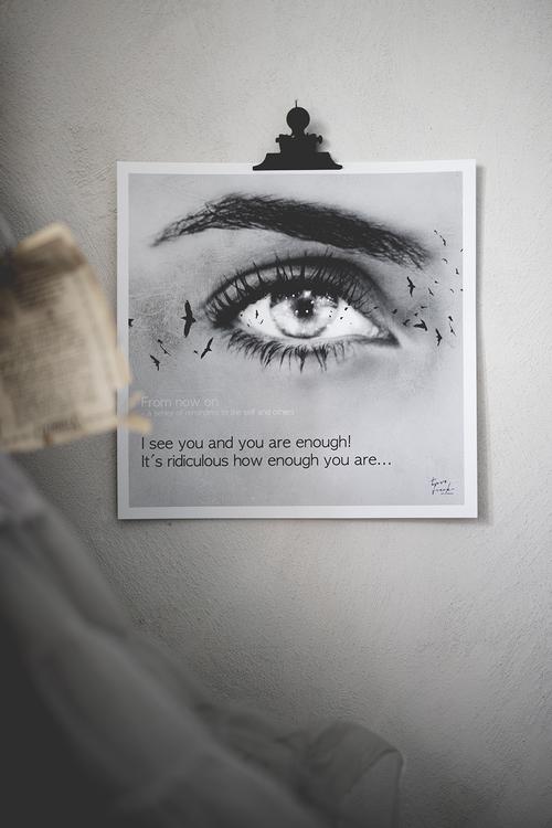 YOU ARE ENOUGH 30x30 cm print i kampanj för ungas psykiska hälsa