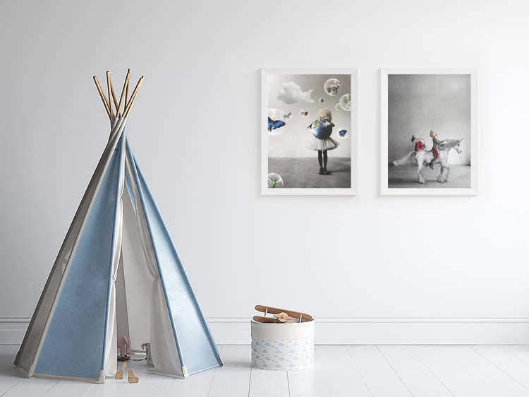 Enhörning/ Elo The Unicorn - Art print 30x40 cm