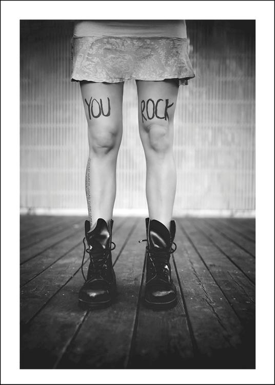 YOU ROCK -  Art print 50x70 cm