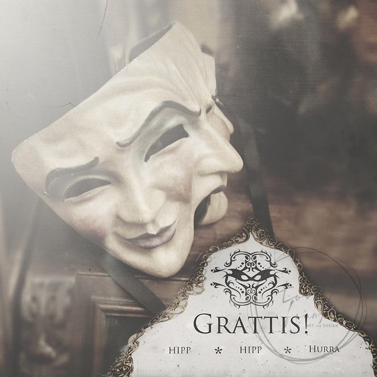 """Grattis"" Dubbelt kort 15x15cm"