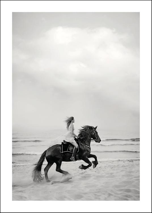 BLACK - Art print 50x70 cm