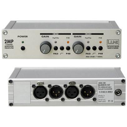 Line Audio Design 2MP 2-kanalig micpreamp