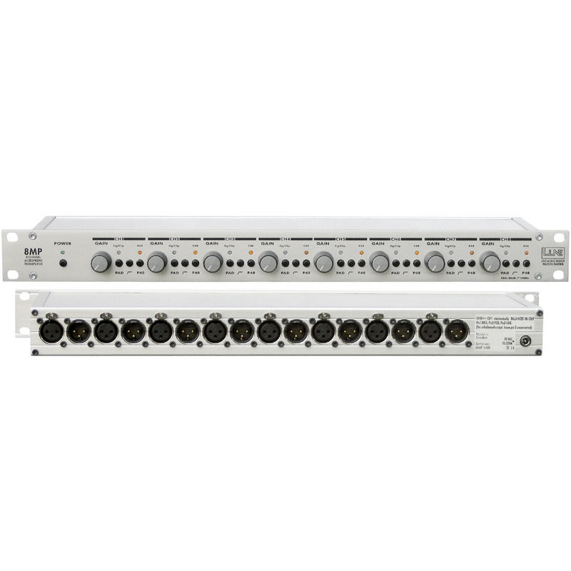 Line Audio Design 8MP 8-kanalig micpreamp