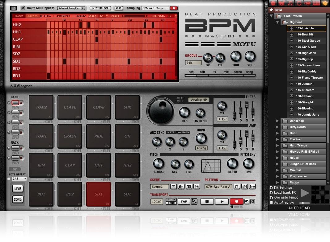 MOTU BPM - Beat Production Machine