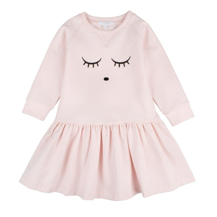 Livly Sleeping Cuite Sweatershirt Dress Pink
